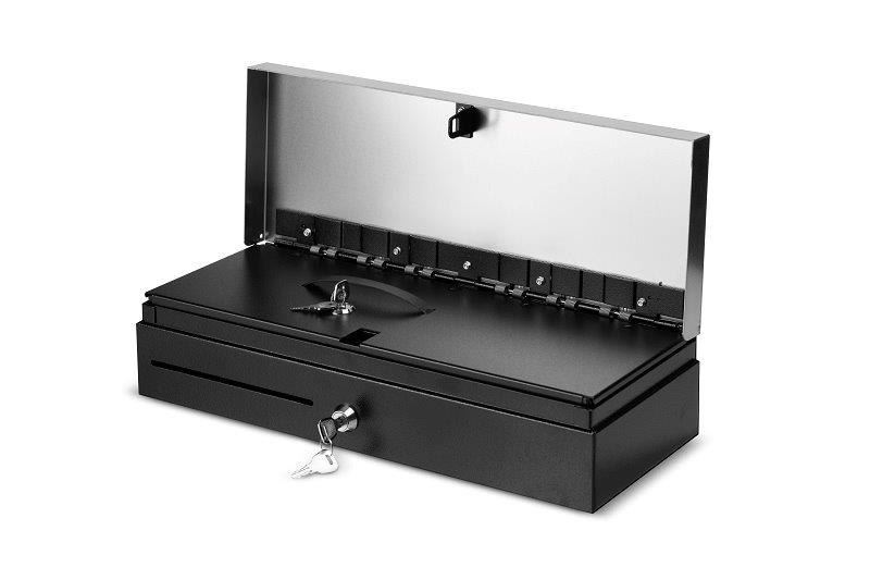 Close-up of a cash drawer
